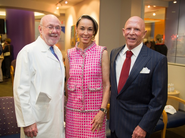 9728 Dr. David Poplack, from left, with Sue and Lester Smith at the Lester and Sue Smith Clinic dedication at Texas Children's Hospital May 2014