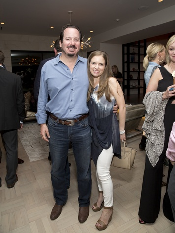 Houston, Casa Dragones launch party, October 2015, Alan and Luba Bigman