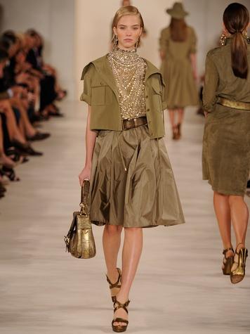 Fashion Week spring 2015 Ralph Lauren September 2014 safari bling