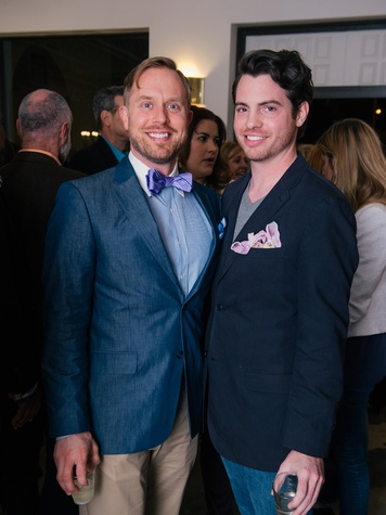 11 Michael Broderick, left, and Matt Johns at the Lynn Goode Vintage opening reception March 2014