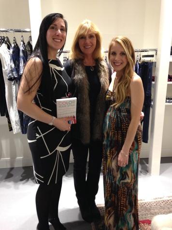 Cristina Tuckness, from left, Kathy Harrison and Katy Atlas at David Zyla at Atrium Ready to Wear January 2014