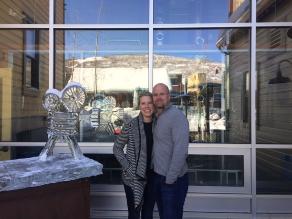Dan PIckering and Amanda Hughes at Sundance Film Festival 2017