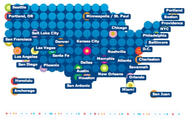 Rudest cities map