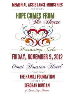"""Memorial Assistance Ministries' Heartstrings Gala """"Hope Comes from the Heart"""""""