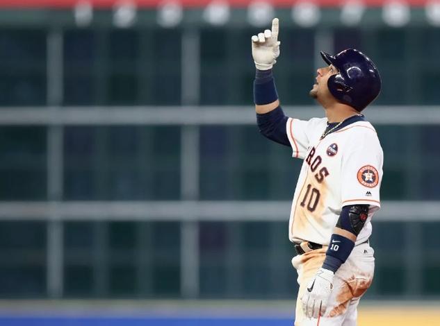 Astros Yuri Gurriel in Game 3 of World Series