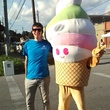 Tyler Rudick, Menchie, frozen yogurt, mascot, White Linen Night
