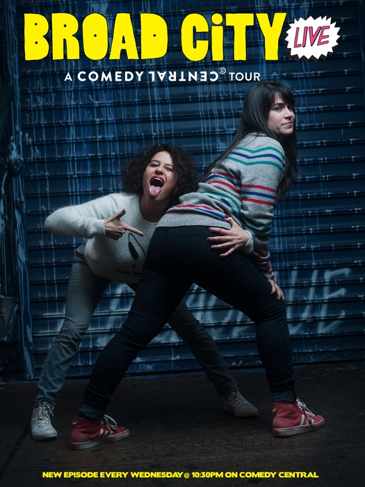 Poster For Broad City Live Tour With Abbi Jacobson And