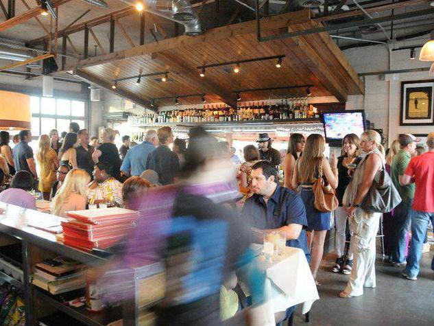 Interior of Bolsa restaurant in Dallas