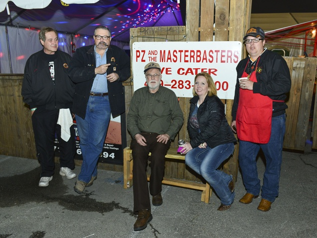 """6 Steve Artz, from left, Pete """"P.Z."""" Zinnante, Jim McWilliams and Katrina and Peter Zinnante at the Houston Rodeo barbecue cook-off February 2014"""