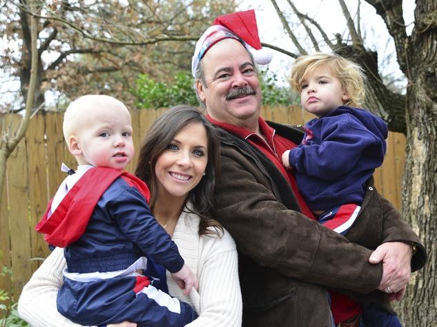 22 Calhoun McNair, from left, Hannah McNair, Cal McNair and Robert McNair at Mission of Yahweh's gift-giving celebration December 2013