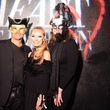 Ken Hauser, Page Parkes, Landa Hauser at Heart of Fashion Masquerade Ball
