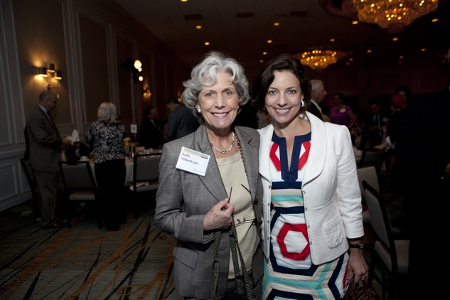 0291 Beth Robertson, left, and Cullen Geiselman at the Menninger Luncheon May 2014