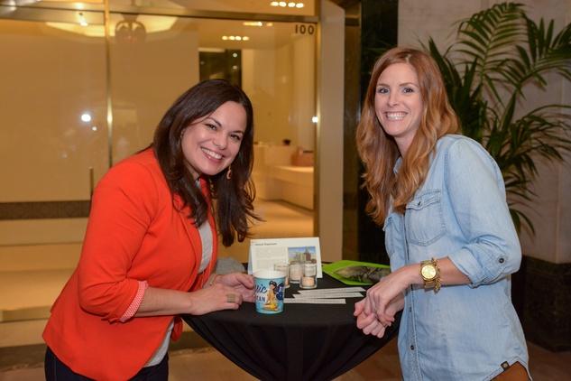 17 Julie Rosenberg, left, and Nicki Kana at Preservation Houston's Pier & Beam #ThrowbackThursday Party November 2014
