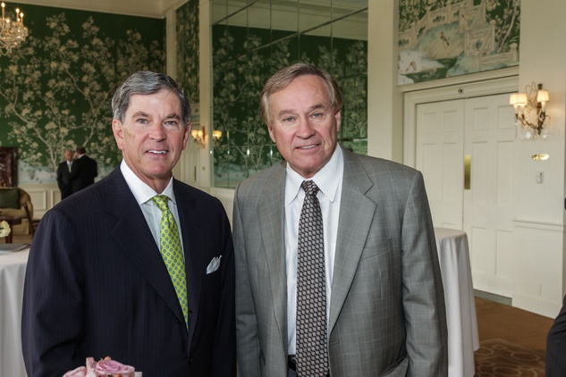 24 John Eads, left, and Brad Fish at the Men of Distinction luncheon May 2014