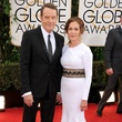 Bryan Cranston in Burberry and wife at Golden Globes