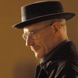 Walter White as Heisenberg in Breaking Bad head shot with hat