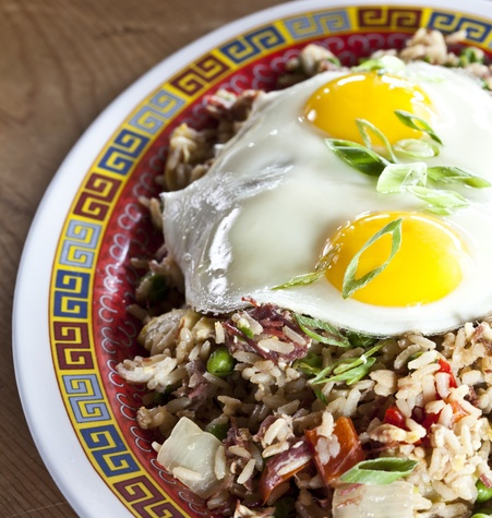 Corned beef fried rice at Hay Merchant