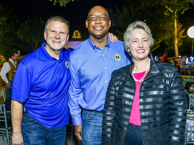 13 Tilman Fertitta, from left, Charles McClelland and Mayor Annise Parker at the True Blue Gala October 2013