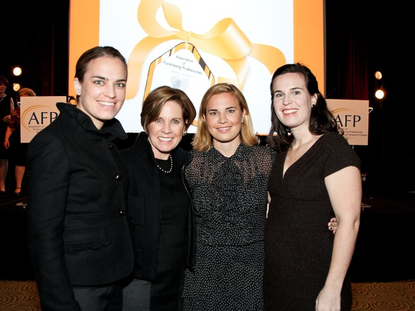 National Philanthropy Day luncheon, November 2012, Molly Hackett LaFauci, Maureen Hackett, Kelly Hackett, Mosie Hackett
