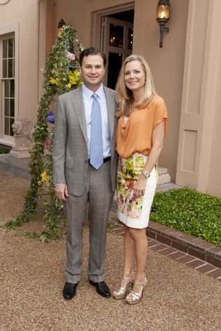 John and Lesli Giannukos at the Rienzi Spring Party April 2014
