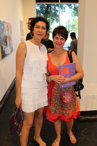 Kelyne Reis, left, and Eva Graf at the Lawndale Big Show preview party July 2014