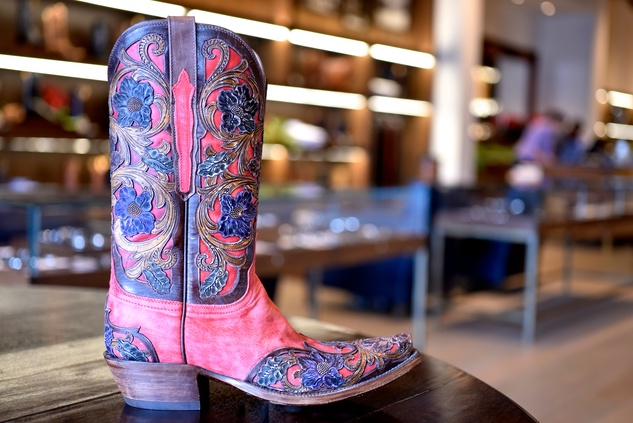 Special Houston boot at Lucchese store in Highland Village