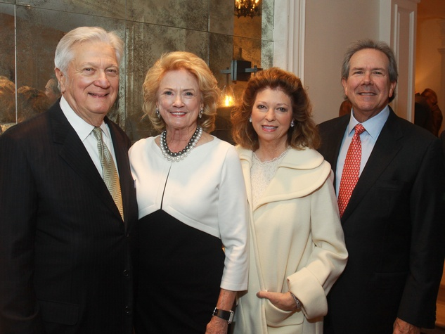88 Greg and Patsy Fourticq, from left, with Diane and John Connally III at the M.D. Anderson Santa's Elves party December 2013