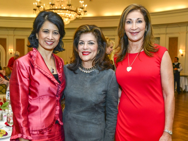 17 Renu Khator, from left, Dancie Ware and Soraya McClelland at the Fashion Retailers luncheon October 2013