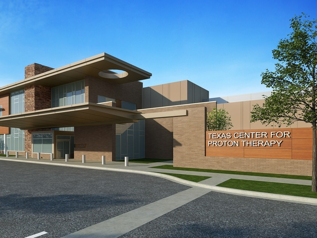A rendering of the Texas Center for Proton Therapy