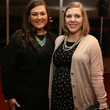 Holly Ashe, left, and Rebecca Alsup at the Alley Young Professionals holiday party December 2013