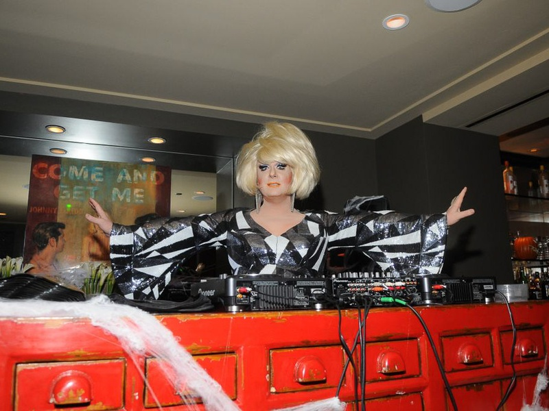 Hotel ZaZa Halloween party, October 2012, Lady Bunny