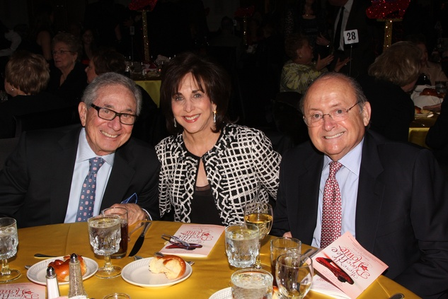 1 Allen Becker, from left, with Rolaine and Morrie Abramson at the Seven Acres Gala February 2014