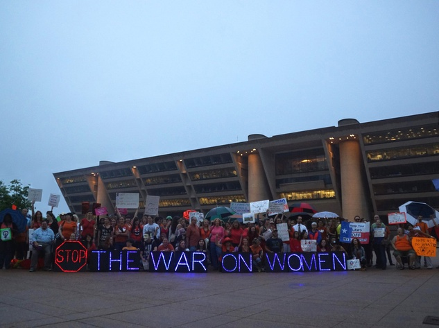Pro-choice rally, Dallas City Hall