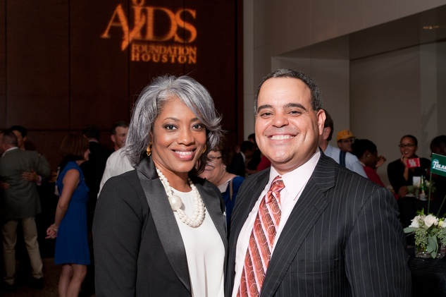 11 Montrice Malone and David Chaumette at the World AIDS Day kick-off October 2014