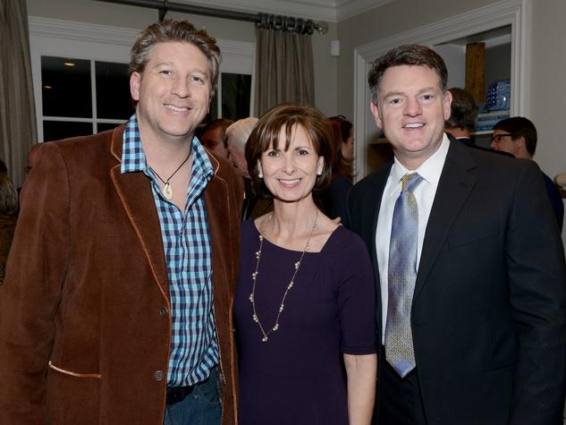 Brad Oldham, Karen Wald, Jim Pierce , launchability sponsor party
