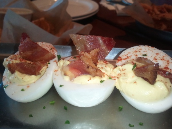 Amy, Brick House, November 2012, deviled eggs, bacon