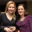 0274 Elaine Petrulis, left, and Kelly Fischer at Houston Friends of Chamber Music Red Violin event March 2014
