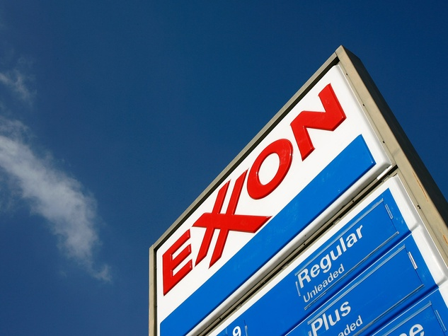 Exxon Mobil gas station sign
