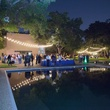 The Reflecting Pool at Rothko Chapel's Moonrise Party on the Plaza October 2013