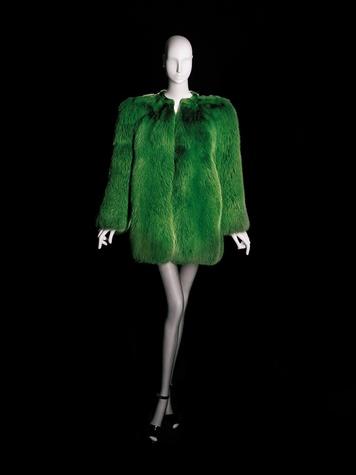 News_Donae Cangelosi Chramosta_Yves Saint Laurent_Denver Art Museum_March 2012_YSL La collection du scandale-short evening coat