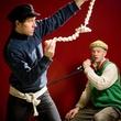 Actors perform in Finegan Kruckemeyer's play Boats