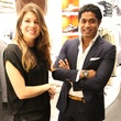 Stephanie de Kanter and Nish de Gruiter at the Suitsupply Houston grand opening party December 2013