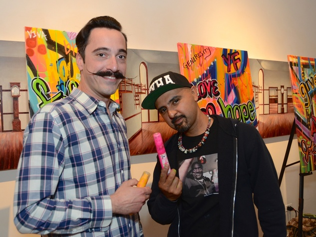 56 Ali T., left, and GONZO247 at the CultureMap Social at Gremillion and Co. Fine Art March 2015