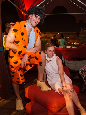 Robert and Amy Urquhart at the St. Luke's PULSE Saints & Sinners Halloween party October 2013