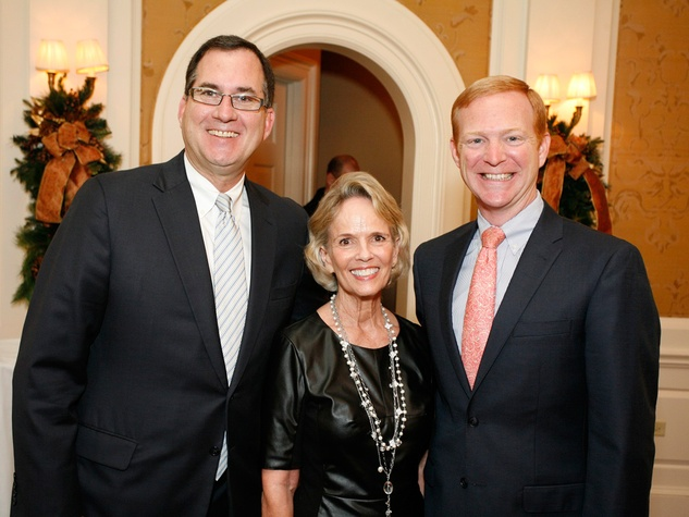 26 Jim Reeder, from left, Sue White and Eric Nevil at the Houston Botanical Gardens luncheon December 2013