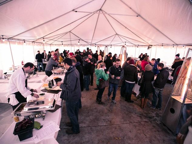 Austin meatball festival crowd