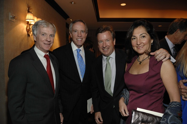 Ryan Crocker, from left, David Jones and Jim and Paula McGrath at the George Bush Presidential Library Foundation dinner December 2013