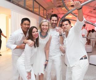Loya Texans White Out party, 9/16 decor