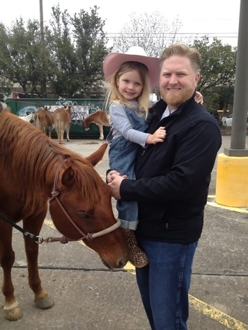 Go Texan Day February 2014 Randy Evans of Haven and daughter