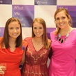 Megan Lesser, from left, Carrie Cowan and Mandy Rogers at the What We Wear Where Mobile App party December 2013